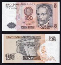 100 intis Perù 1987  FDS/UNC  B-01