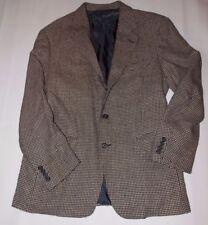 Vtg Polo Ralph Lauren  Mens 40 Blazer Jacket Coat Houndstooth Black Tan USA Wool