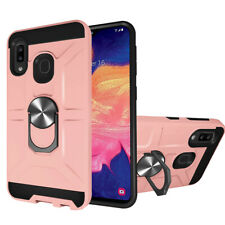 For Samsung Galaxy A10E A20 A20E A30 Back Case Magnetic Ring Stand Phone Cover