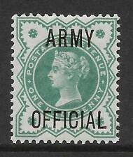 sg042 1d Green 'ARMY OFFICIAL' overprint UNMOUNTED MINT/MNH
