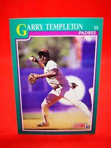 Score 1991 carte card Baseball MLB US NM+/M San Diego Padres 117 Garry Templeton