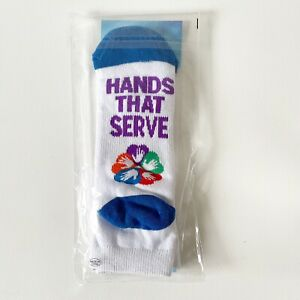 Hands That Serve Hearts That Care Unisex Small Healthcare Nurse Socks