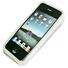 Silikon TPU Handy Cover Case Hülle Schale für Apple iPhone 4 - 4S  in Foggy