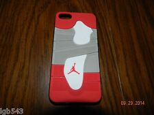 MIP-3D Air Jordan Red n Grey Sports Shoe Sole Case Cover For Apple iphone 5 /5S