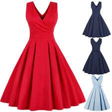 4c6490ff14ac5 UK Plus Size Women 1950s Vintage Rockabilly Style Retro Evening Prom Swing  Dress