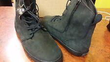 Radii Men's Fashion Shoe with Side Zip Hampton Slim Black Oiled Lthr Size 10.5
