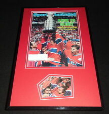 Patrick Roy Signed Framed 1986 Sports Illustrated Cover Display JSA Canadiens
