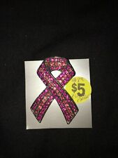 Breast cancer awareness brooch pin