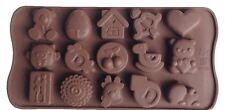 Bears Cute Silicone Fondant Mould Heart Cake Decorating Chocolate Baking Mold