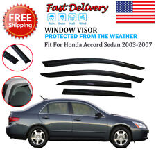 For 2003-2007 Honda Accord 4-Door Sedan Window Visor Sun Rain Guard Deflector (Fits: Honda)