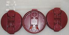 3-Electron Burgundy Replacement Lids and 3-Straws for the 32 oz Hospital mugs