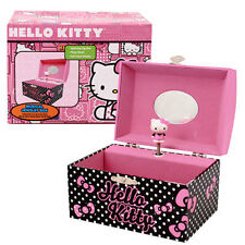 Hello Kitty Dome Musical Jewelry Box Music Gift Box Pink Black by Sanrio NEW