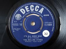 "The Rolling Stones It's All Over Now UK 7"" Decca F.11934 1964 VG+"