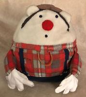 "Vintage Handmade 14"" Humpty Dumpty Pillow Stuffed Children's Toy Doll Antique"