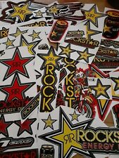 Lot Set of 10 Rockstar Stickers Decals Racing Motorcycle Motocross Atv Dirtbike
