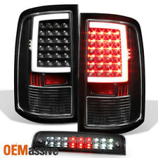 2009-2017 Dodge Ram 1500 10-17 2500 3500 Black LED Tail Lights + 3rd Brake Light