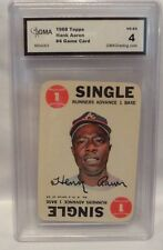 1968 TOPPS HANK AARON #4 GAME CARD GRADED 4 VG-EX!!