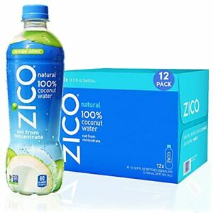 ZICO, Natural 100% Coconut Water Drink, Hydrating Electrolytes, No Sugar Added