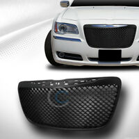 Fit 11-14 Chrysler 300 300C Glossy Blk Mesh Front Hood Bumper Grill Grille Guard