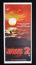 JAWS 2 1978 Orig Australian daybill movie poster Advance teaser sunset shark
