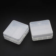 2pc Hard Plastic Case Holder Storage Box For 2 x 26650 Rechargeable Battery Pack