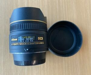 Nikon NIKKOR 10.5mm f/2.8 CRC DX AF ED G Lens *Mint Condition* Fisheye