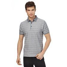 Men Red Herring Grey Striped Print Polo Shirt 3XL CS075 HH 12