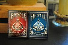Set of 2 Decks Bicycle Apollo Playing card decks Red & Blue