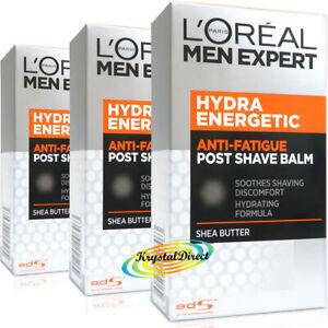 3x Loreal Men Expert Hydra Energetic Anti Fatigue Post Shave Balm 100ml