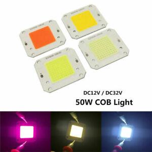 50W 3000K 6000K 10000K 20000K 30000K High Power 12V 32V COB LED Chip Grow light