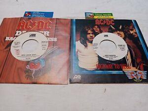 45 Giri AC/DC,  2 DISCHI JUKEBOX con cartellino copertine non aderenti al disco