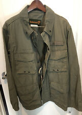 MENS TIMBERLAND OLIVE GREEN MILITARY STYLE HIP LENGTH COTTON BLEND JACKET SZ XL