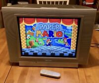 STEREO 20 Flat Screen CRT TV Retro Gaming N64 Sega SNES SVIDEO Svhs AV Inputs 19