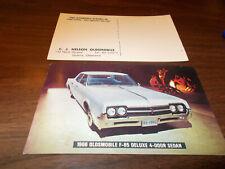 1966 Oldsmobile F-85 Deluxe 4-door Sedan Advertising Postcard