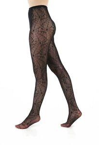 Plus Size Suspender Fishnet Pantyhose #655 Black Nylon Garter Belt Floral Fan
