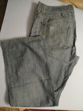 Mens LEVIS 549 Light Wash Distressed Low Loose Jeans 34 x 30