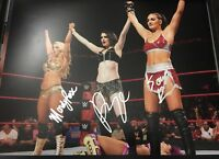 PAIGE SIGNED 11x14 PHOTO WWE ABSOLUTION MANDY ROSE SONIA BECKETT COA LETTER