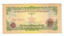 Sud South Vietnam national liberation front 50 xu 1963  BB  Good     Lotto 391