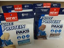 Pure Protein Paks 100% Whey Isolate- 4 bags of 6 paks- 24 paks total exp 11/20