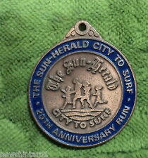 #D272.  1990 CITY  TO  SURF  RUN  FINISHING   MEDAL