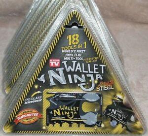 *ONE* NEW WALLET NINJA STEEL FLAT MULTI TOOL SET; AS SEEN ON TV; 18 TOOLS IN 1