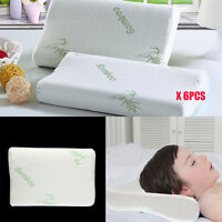 LOT Standard Size Hot Bamboo Pillow Memory Foam Hypoallergenic Comfort Bag &@