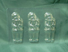 FLAT FATHER CHRISTMAS / SANTA CHOCOLATE MOULD / MOLD - 3 impression