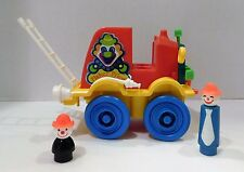 Vtg CRAZY CLOWN FIRE BRIGADE JALOPY #657 Fisher Price Little People Extra Clowns