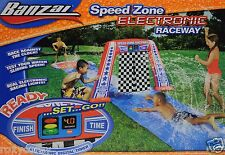 Banzai Speed Zone Electronic Raceway Water Slide Test Your Speed Age 5-15 Nib