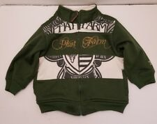 Baby Phat Farm Jacket Size 12 Months zip up front Green and White 2 slash pocket