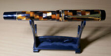Parker Duofold DEMI Fountain Pen Amber Check with Gold Trim and Medium Nib