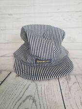 OshKosh B'Gosh Engineer Railroad Conductor Navy Striped Hat Cap USA Kids Youth