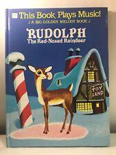 RUDOLPH THE RED NOSE REINDEER Big Golden Melody Book Barbara Shook Hazen 1985