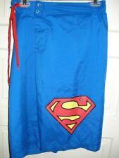 Superman DC Comics Mens Shorts Size Medium Blue